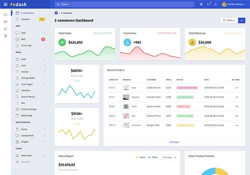 Fedash - Admin & Dashboard Template + Laravel 7 Starter Kit