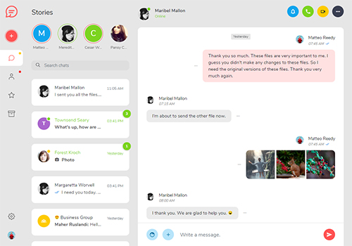 Tinno - HTML5 Chat App Template