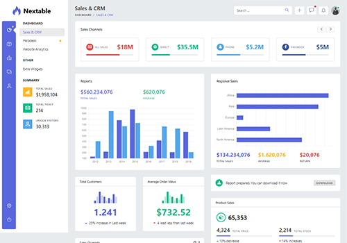 Nextable - Bootstrap 4 Admin Dashboard Template