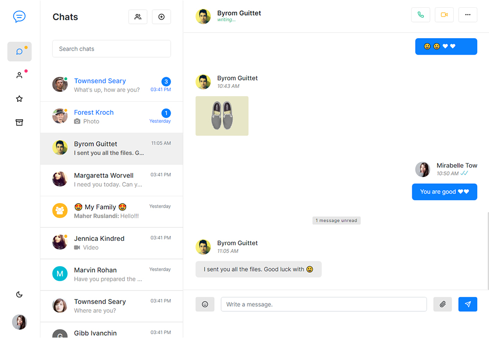 Slek Chat and Discussion Platform HTML5 Template Preview