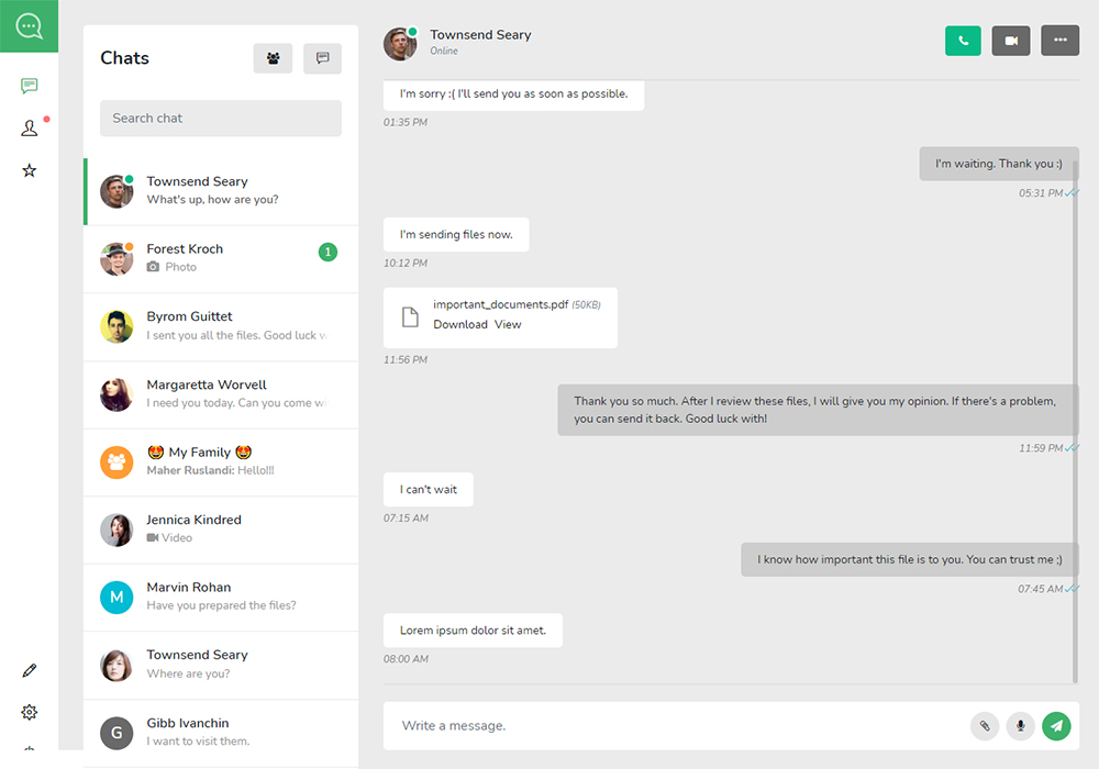 Soho React React Chat and Discussion Platform Preview
